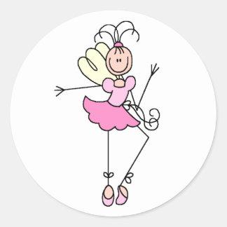 Figura etiqueta da vara da bailarina adesivo