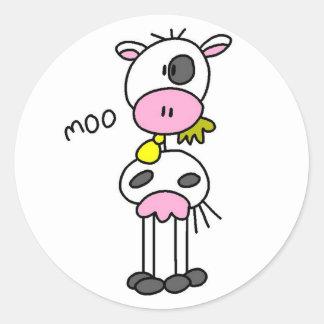 Figura etiqueta da vara da vaca