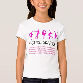 Figura flocos de neve das meninas do t-shirt do