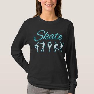 Figura fulgor azul dos patinadores camiseta