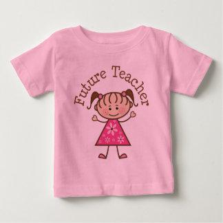 Figura futura da vara do professor camiseta para bebê