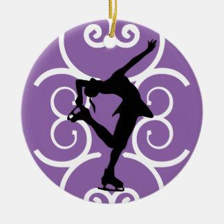 Figura ornamento do patinador - roxo -