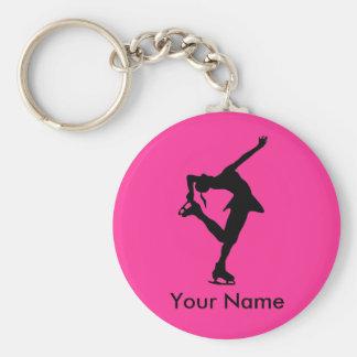 Figura personalizada corrente chave de patinador - chaveiro