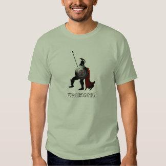 Figura preta grega guerreiro camisetas
