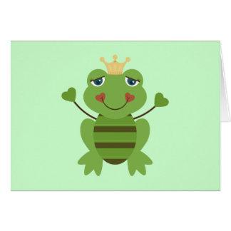 Figura príncipe da vara do sapo cartão
