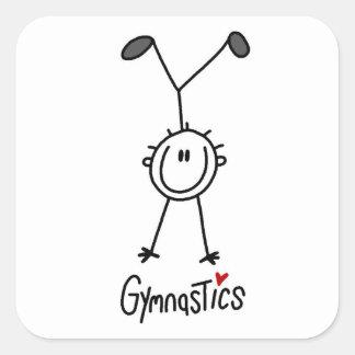 Figura simples Gymnast da vara Adesivo Quadrado