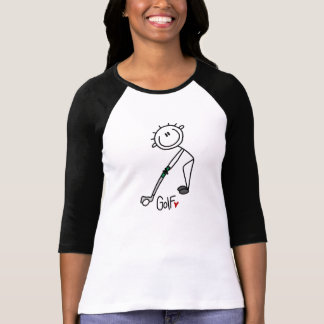 Figura simples jogador de golfe da vara camiseta