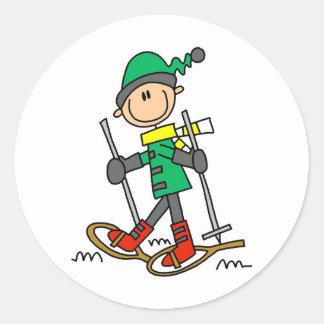Figura Snowshoeing da vara Adesivo