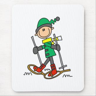 Figura Snowshoeing da vara Mouse Pad