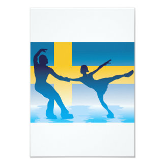 Figura sueco convites dos patinadores