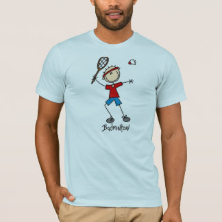 Figura t-shirt da vara do Badminton Camiseta