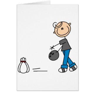 Figura t-shirt e presentes da vara da boliche cartão