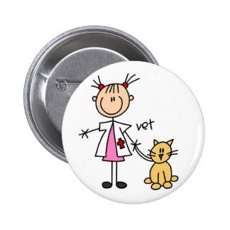Figura veterinária botão da vara botons