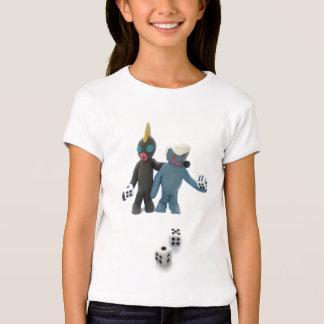 figuras com dados camiseta