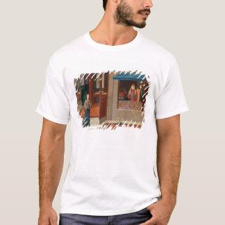 Figuras em um interior do vestuario camiseta