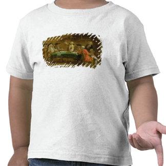 Figuras em uma taberna ou em uma casa do café, camiseta