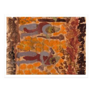 Figuras farpadas misteriosas cartão