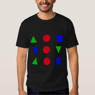 figuras geométricas, cores camiseta