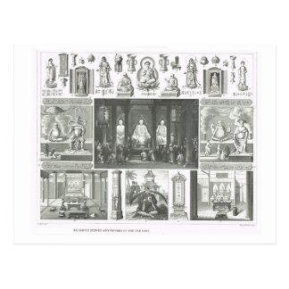 Figuras religiosas e cenas do Extremo Oriente Cartao Postal