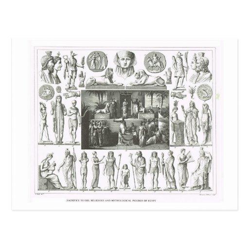 Figuras religiosas e mitológicas de Egipto Cartao Postal