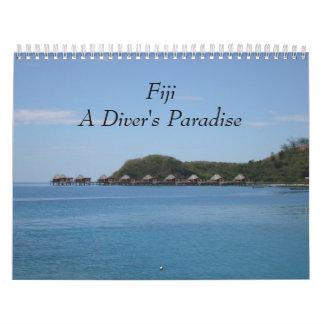 Fiji - calendário de parede do paraíso 2018 de um