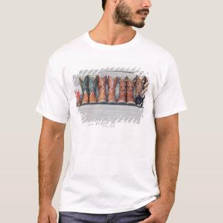Fileira da bota de vaqueiro no patamar da cabana camiseta