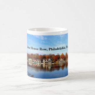 Fileira da casa de barco, Philadelphfia, PA Caneca De Café