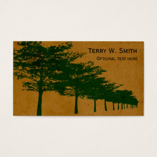 Fileira do cartão de visita das árvores