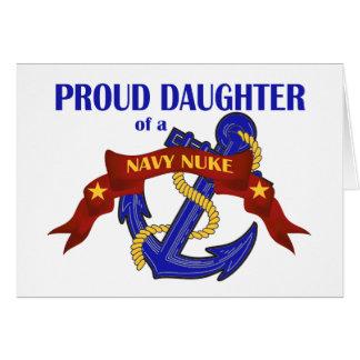 Filha de umas armas nucleares do marinho cartão comemorativo