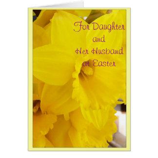 Filha do felz pascoa e flor do cartão do genro