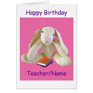 Filha do filho do cartão de aniversário do