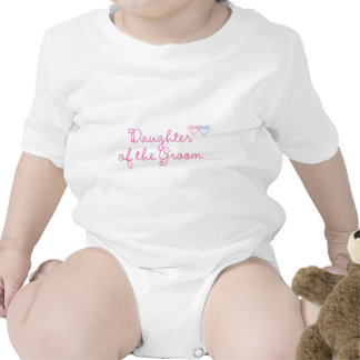Filha do noivo macacãozinho para bebê
