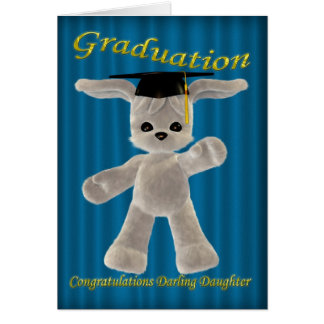 Filha do querido da graduação cartão comemorativo