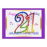 Filha feliz do aniversário de 21 anos! cartao