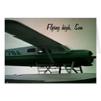 FILHO ALTO DO GRADUATION-FLYING DO FILHO CARTÃO COMEMORATIVO