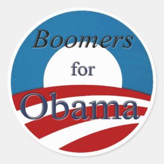 Filho do baby-boom para Obama - etiqueta Adesivos Redondos