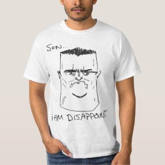Filho eu sou decepciono a raiva Meme cómico do pai Camiseta