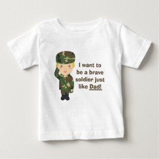 Filho orgulhoso de um exército ou de um pai tshirts