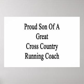 Filho orgulhoso de um grande treinador do corredor poster