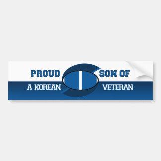 Filho orgulhoso de um veterano coreano adesivo para carro