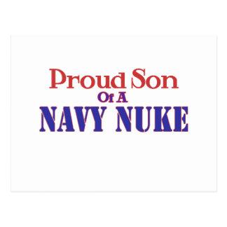 Filho orgulhoso de umas armas nucleares do marinho cartao postal