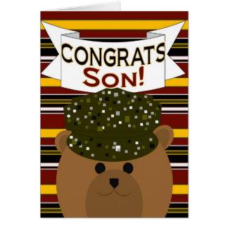 Filho - soldado Congrats do exército! Cartões