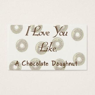 Filhós do chocolate cartão de visitas