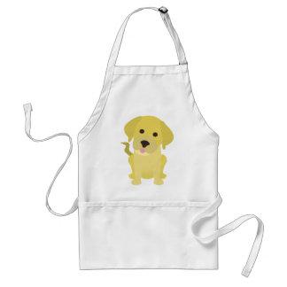 Filhote de cachorro amarelo de Labrador Avental