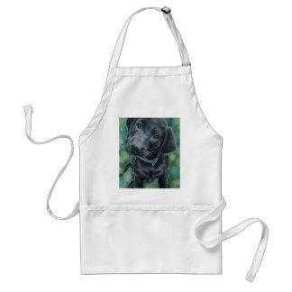 Filhote de cachorro bonito avental
