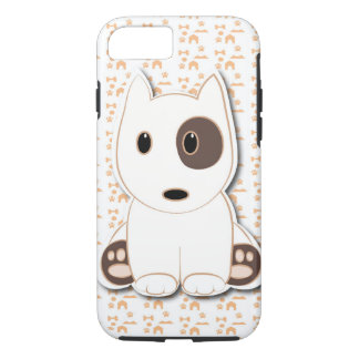 Filhote de cachorro bonito de bull terrier capa iPhone 7