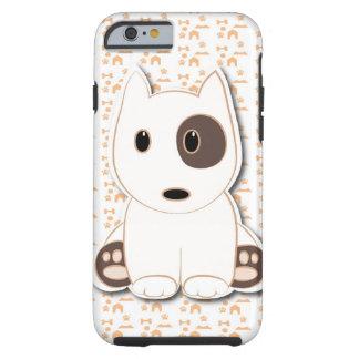 Filhote de cachorro bonito de bull terrier capa tough para iPhone 6