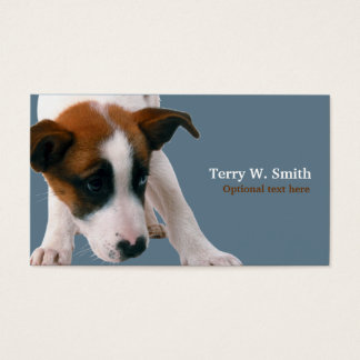 Filhote de cachorro cartão de visitas