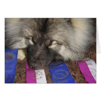 Filhote de cachorro da mostra do Keeshond Cartão Comemorativo