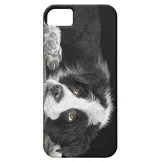 """Filhote de cachorro de border collie - """"diga-me capa barely there para iPhone 5"""